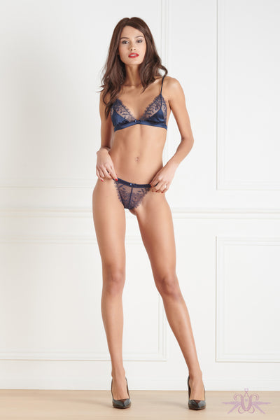Maison Close Villa Satine Blue Triangle Bra - Mayfair Stockings