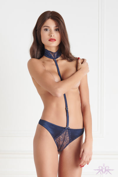 Maison Close Villa Satine Blue Thong Harness - Mayfair Stockings