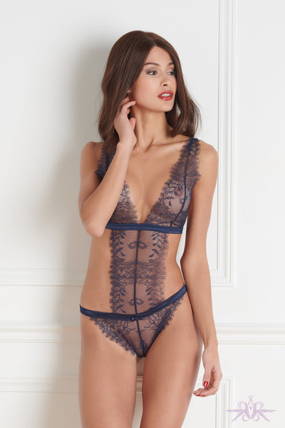 Maison Close Villa Satine Blue Thong Body - Mayfair Stockings