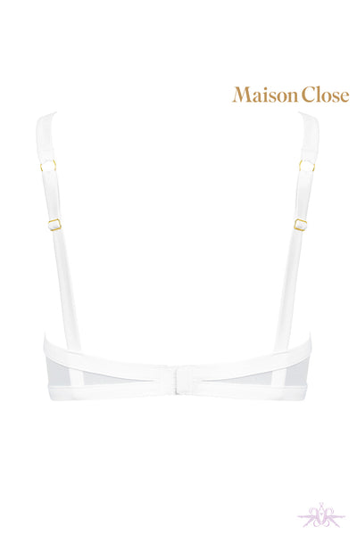Maison Close Pure Tentation White Naked Breast Bra