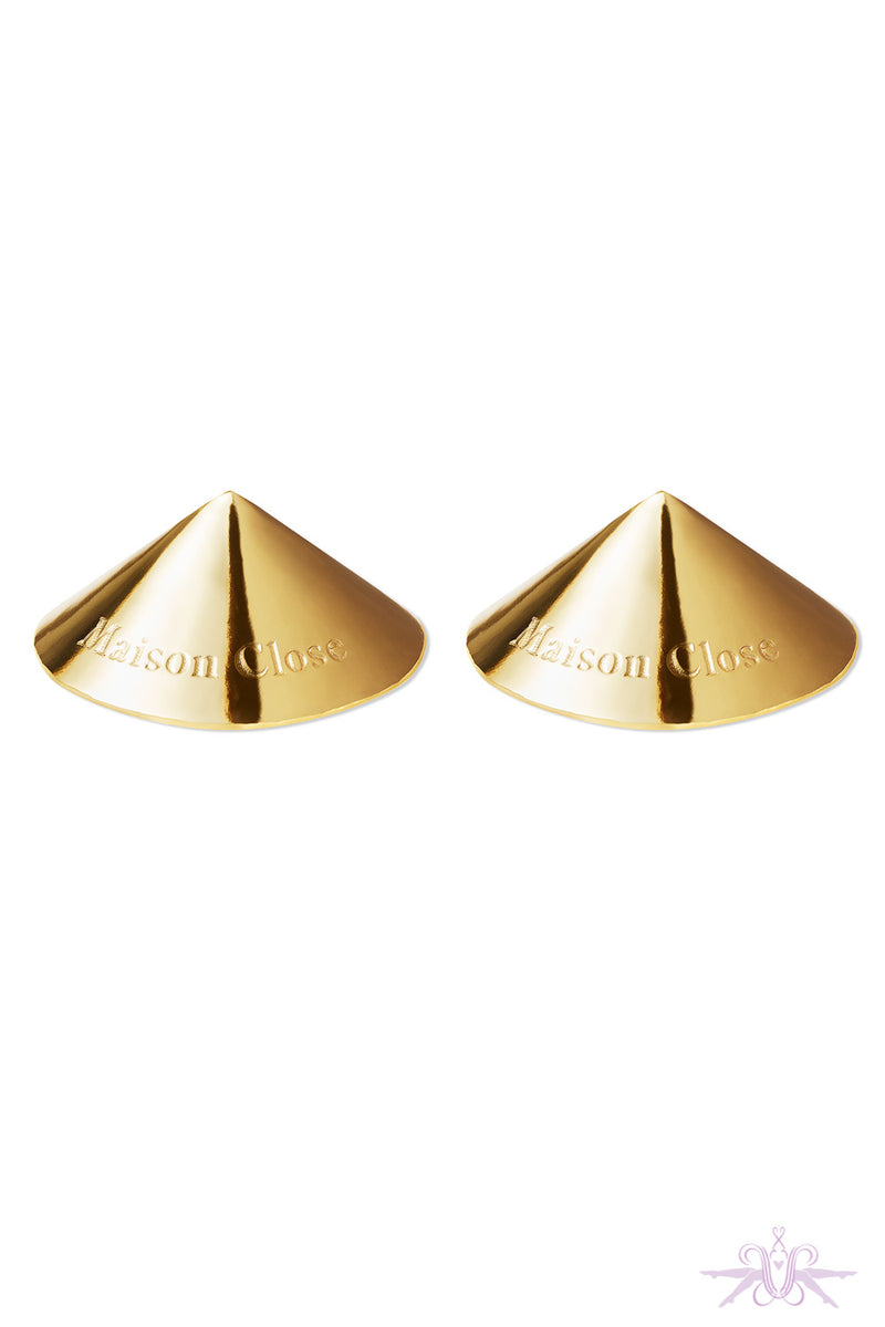 Maison Close Les Fetiches Gold Nipple Covers - Mayfair Stockings