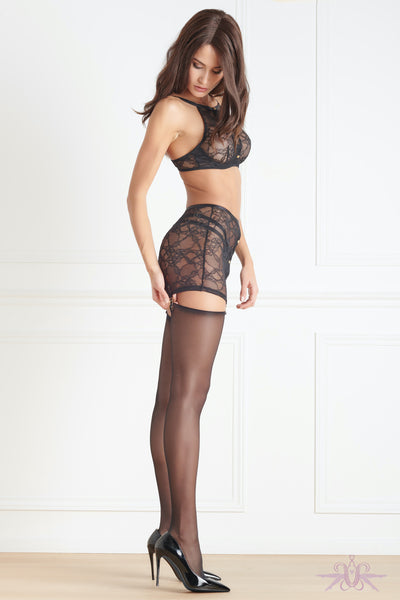 Maison Close Jeux Magnetiques Skirt with Suspenders - Mayfair Stockings
