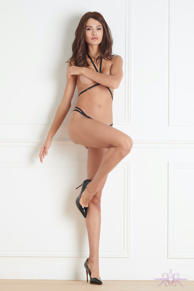 Maison Close Jeux Magnetiques Thong with Harness - Mayfair Stockings