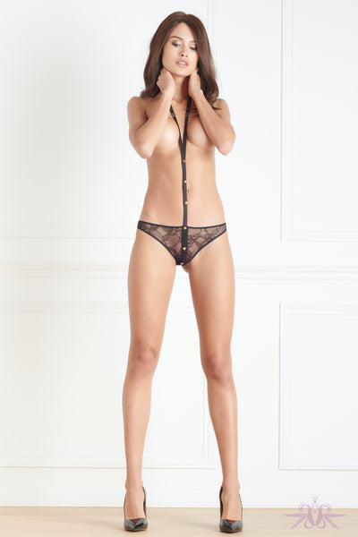 Maison Close Jeux Magnetiques Brief with Harness - Mayfair Stockings