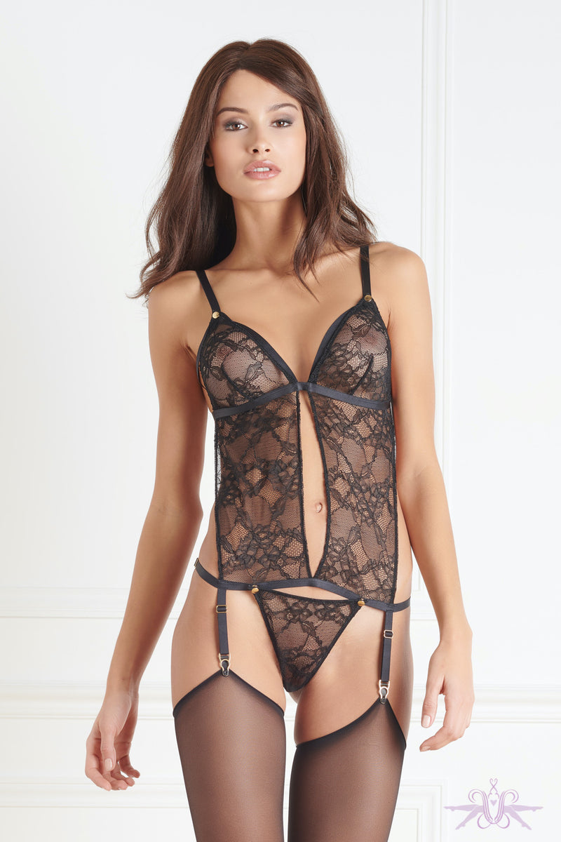 Maison Close Jeux Magnetiques Detachable Body with Suspenders - Mayfair Stockings