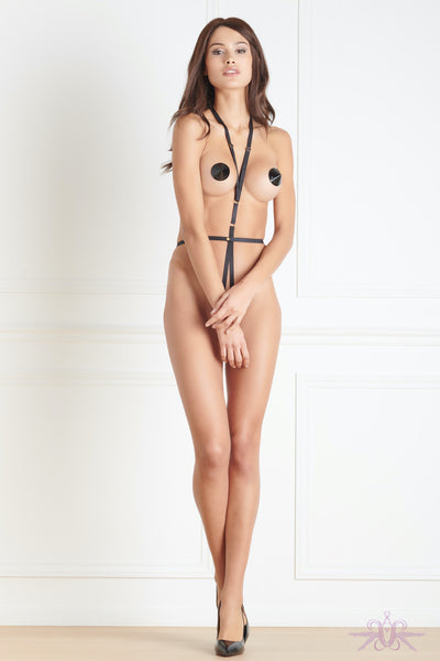 Maison Close Jeux Magnetiques Harness and Nipple Covers - Mayfair Stockings