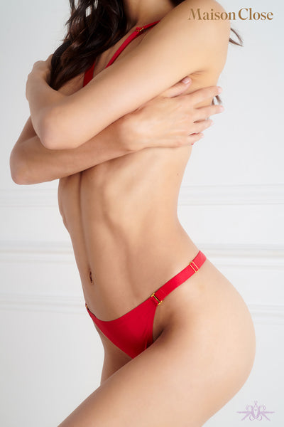 Maison Close Tapage Nocturne Red Mini Thong
