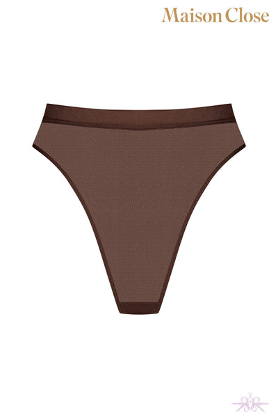 Maison Close Corps a Corps Chocolate High Thong