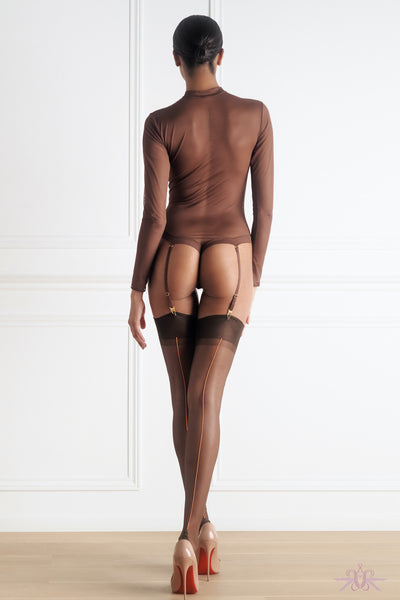 Maison Close Authentique Chocolate Nylon Stockings