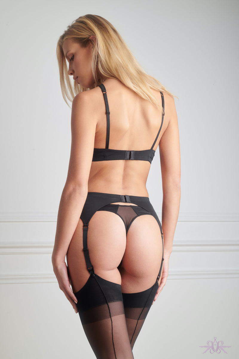 Maison Close Pure Tentation Black Garter Belt