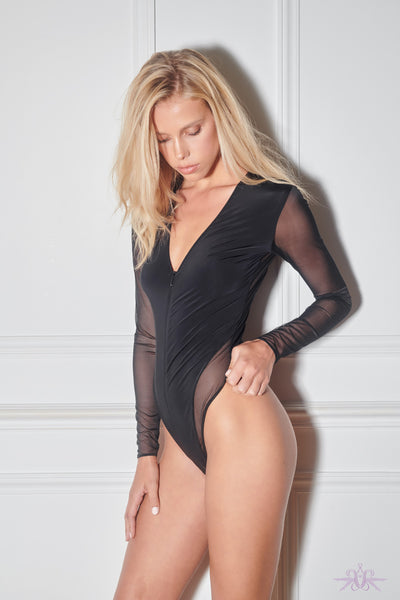 Maison Close Pure Tentation Long Sleeved Black Thong Body