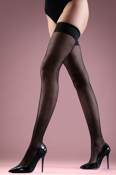 Bluebella Black Plain Top Hold Ups