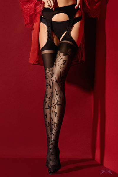 Fiore Amore Amorosa 30 Denier Suspender Tights