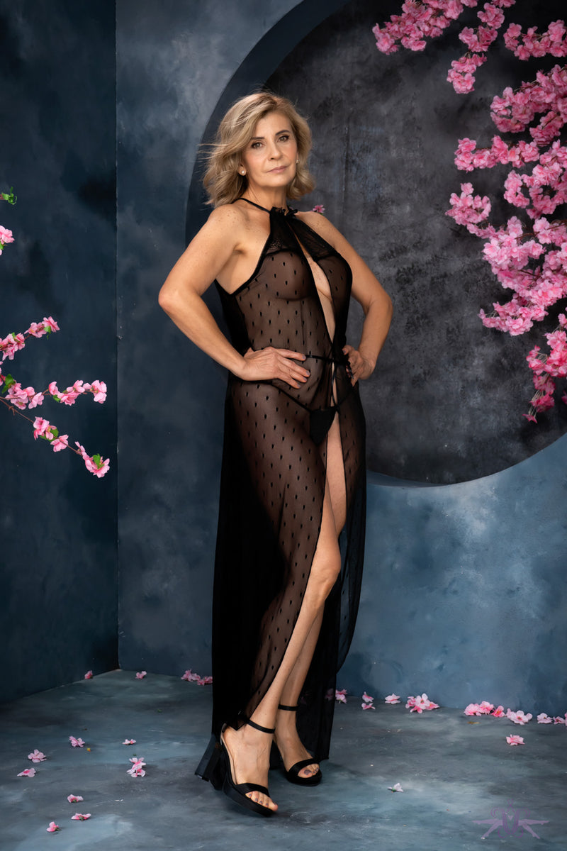 Mapale Long Halterneck Gown and Thong