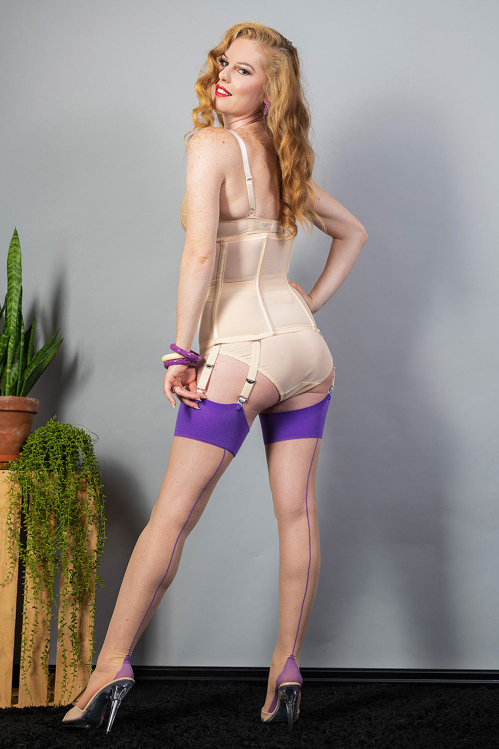 What Katie Did Purple Stockings