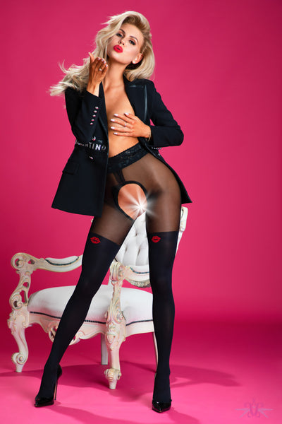 Amour French Kiss Open Tights