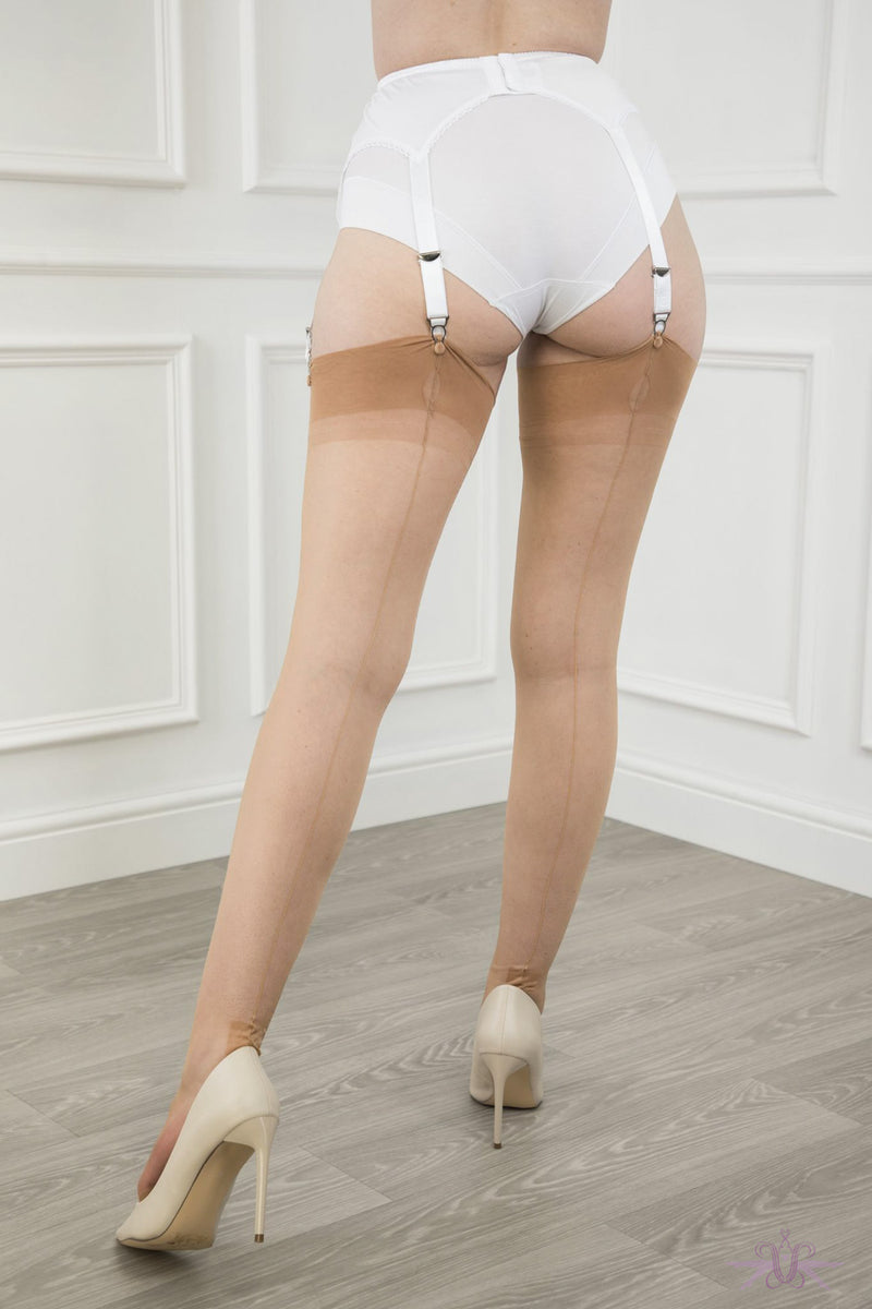 Gio Havana Heel Fully Fashioned Stockings - Mayfair Stockings