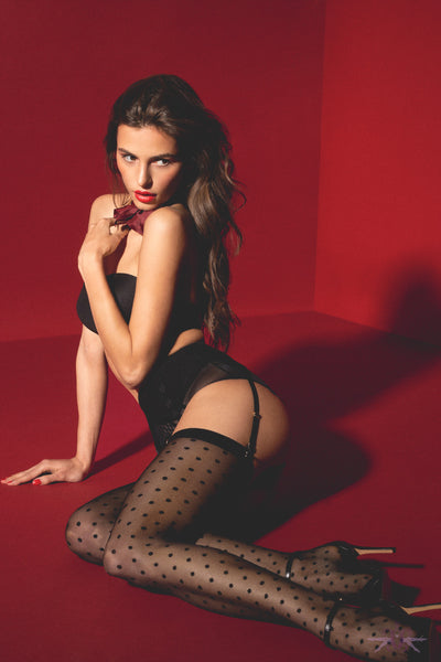 Fiore Louise Spotted Stockings