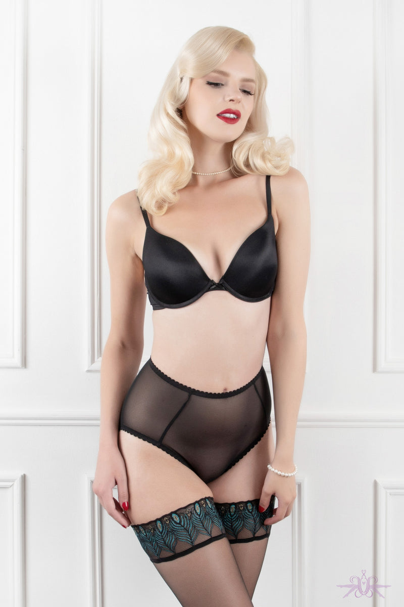 Mayfair Francine Sheer Mesh Knicker - Mayfair Stockings