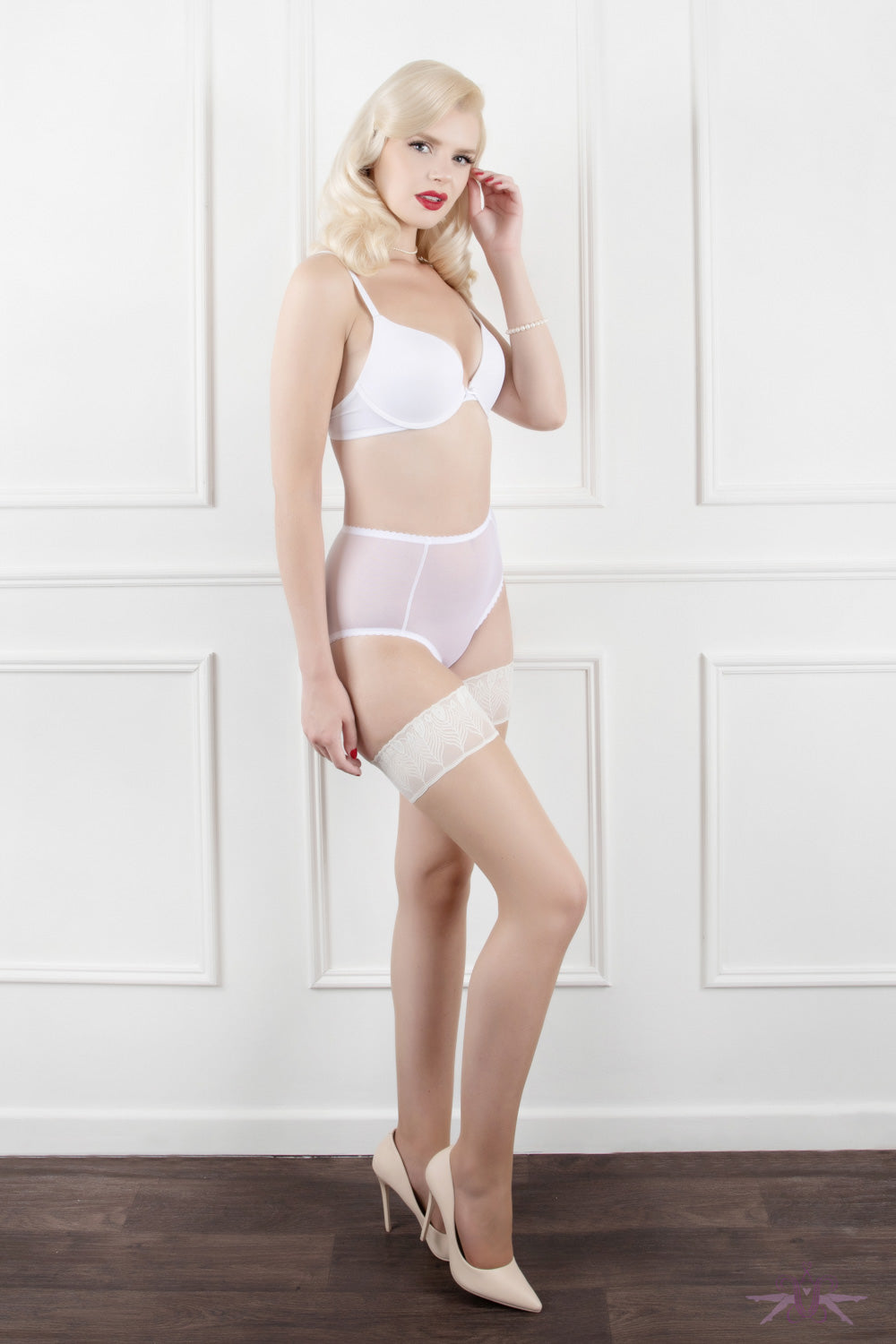 Mayfair Bianca Sheer Open Knickers