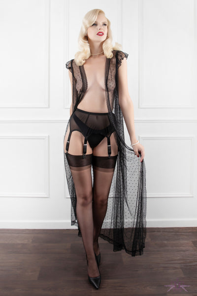 Mayfair Elodie 6 Strap Sheer Suspender Belt