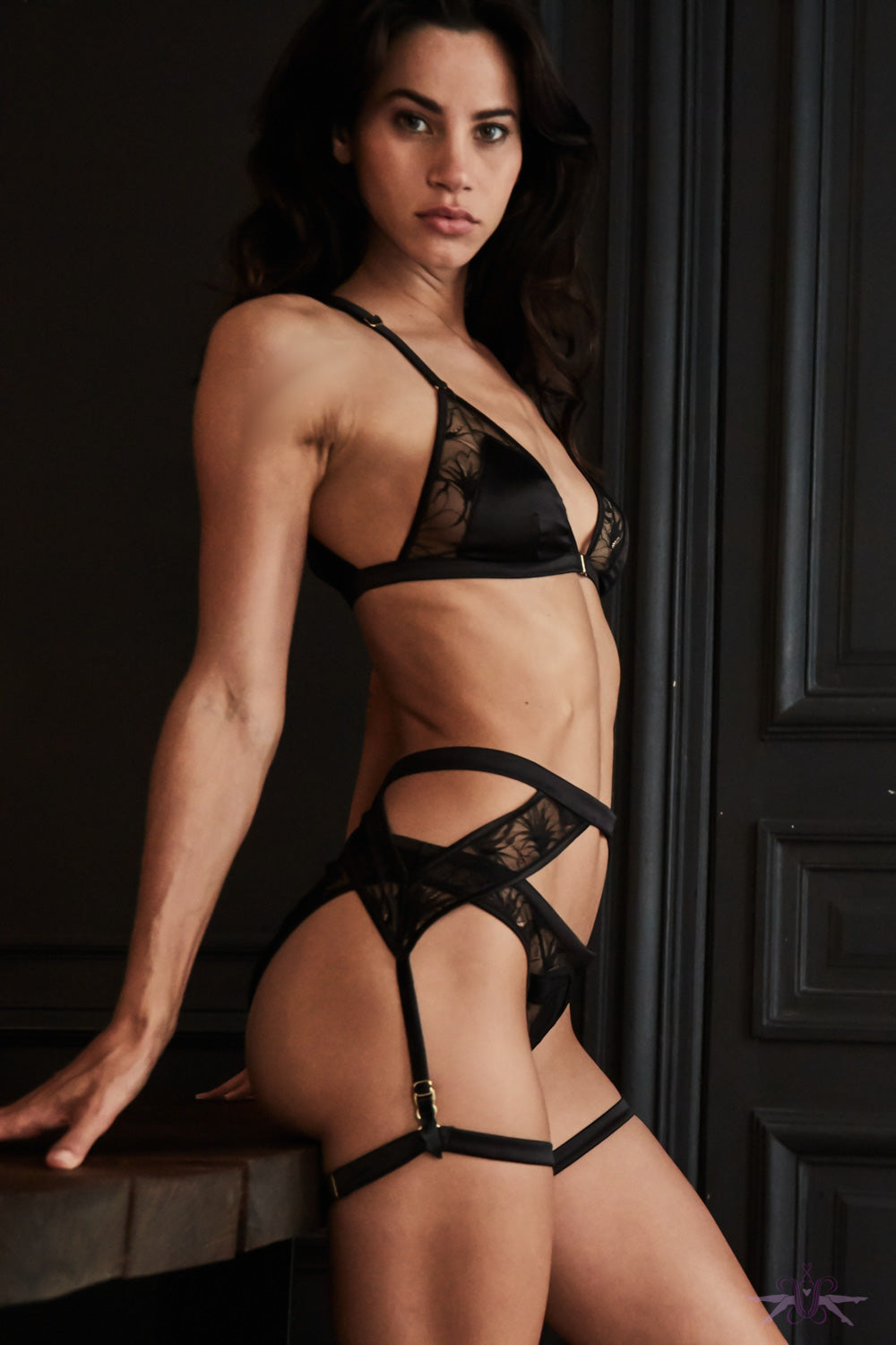 Atelier Amour Night On Broadway Suspender Belt