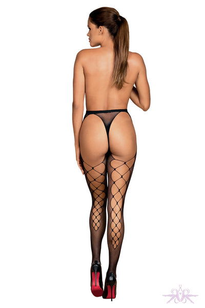 Obsessive Black Fishnet Tights - Mayfair Stockings