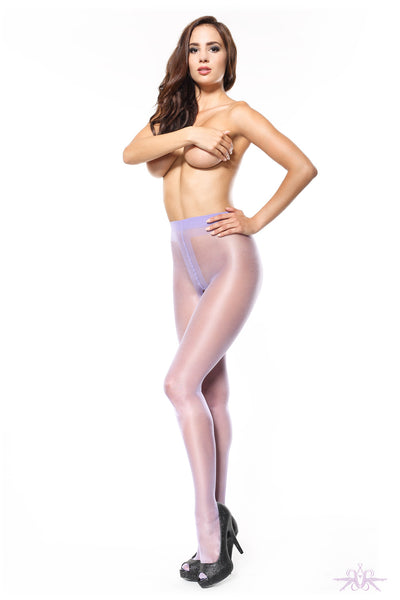 MissO 20 Denier Shiny Open Crotch Violet Tights
