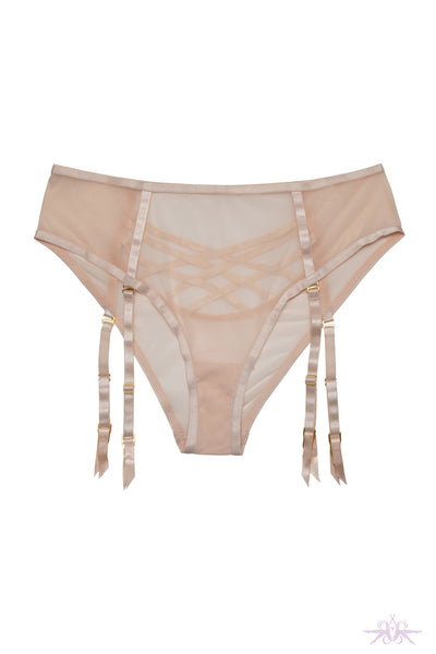 Hustler Arielle Open Strap High Waisted Suspender Brief