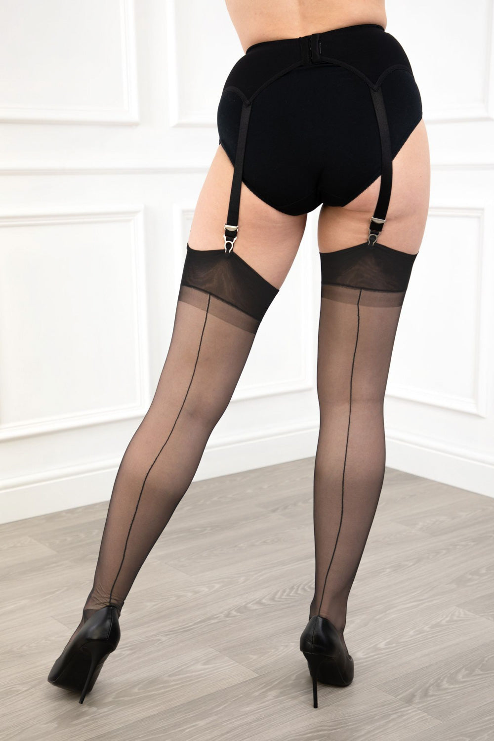 Gio Reinforced Heel and Toe Seamed Nylon Stockings