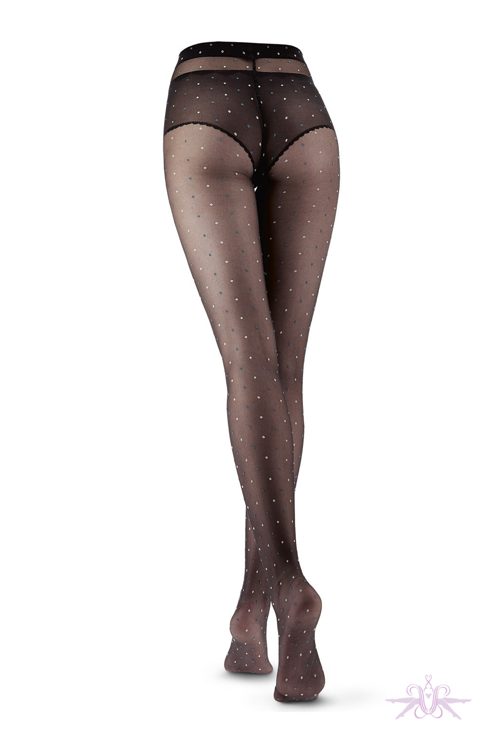 Oroblu Bicolor Dot Tights - Mayfair Stockings