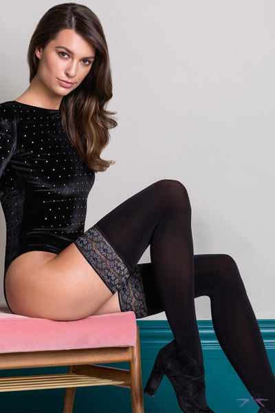 Gabriella Rosalia Opaque Hold Ups - Mayfair Stockings