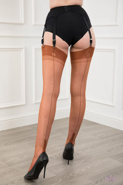 Gio Cuban Heel Fully Fashioned Stockings