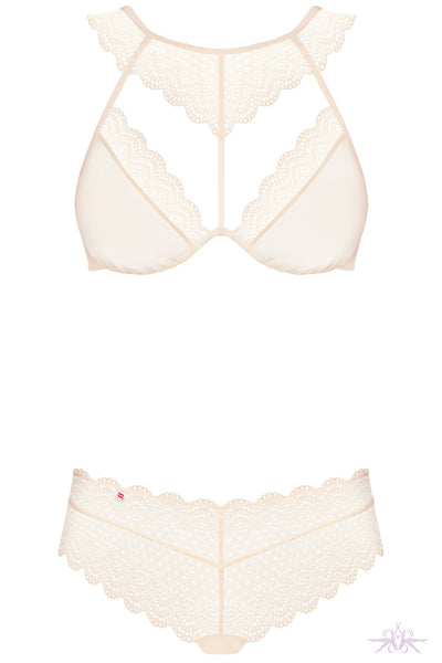 Obsessive Pearl Halter Neck Lace 2 Piece Set