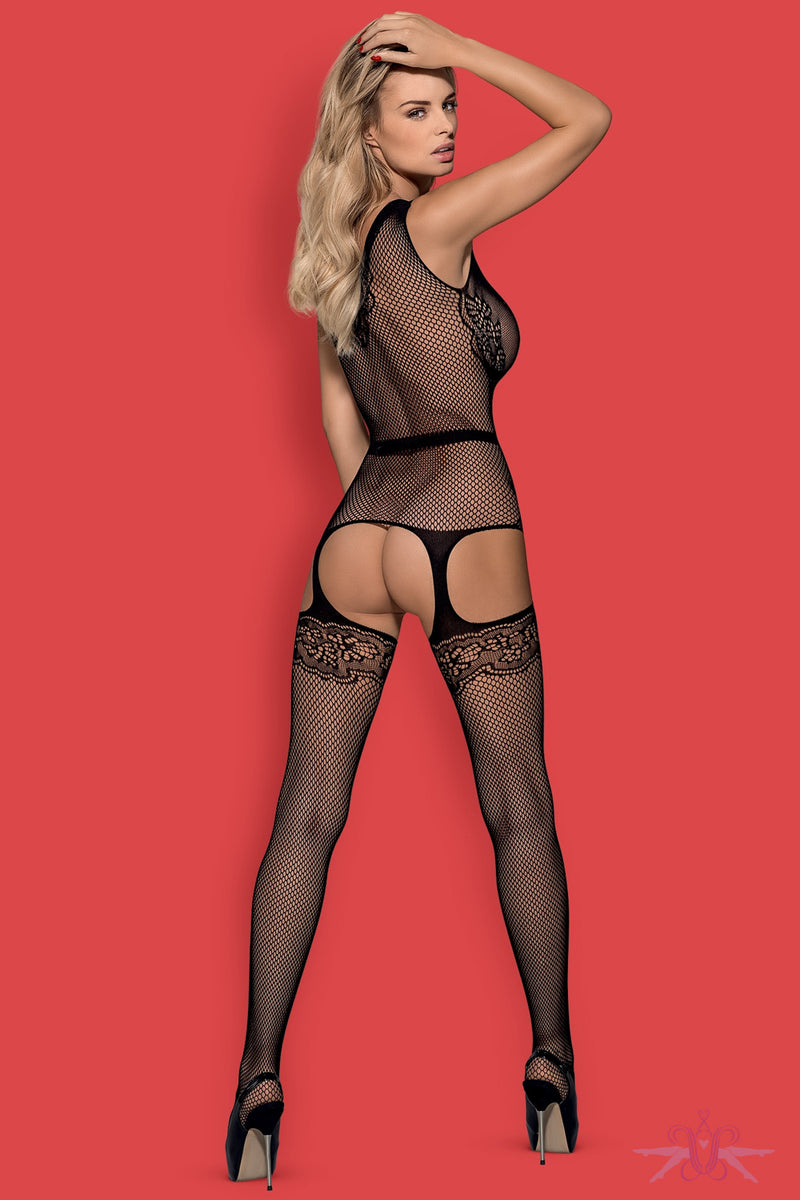 Obsessive Faux Suspender Belted Fishnet Bodystocking - Mayfair Stockings