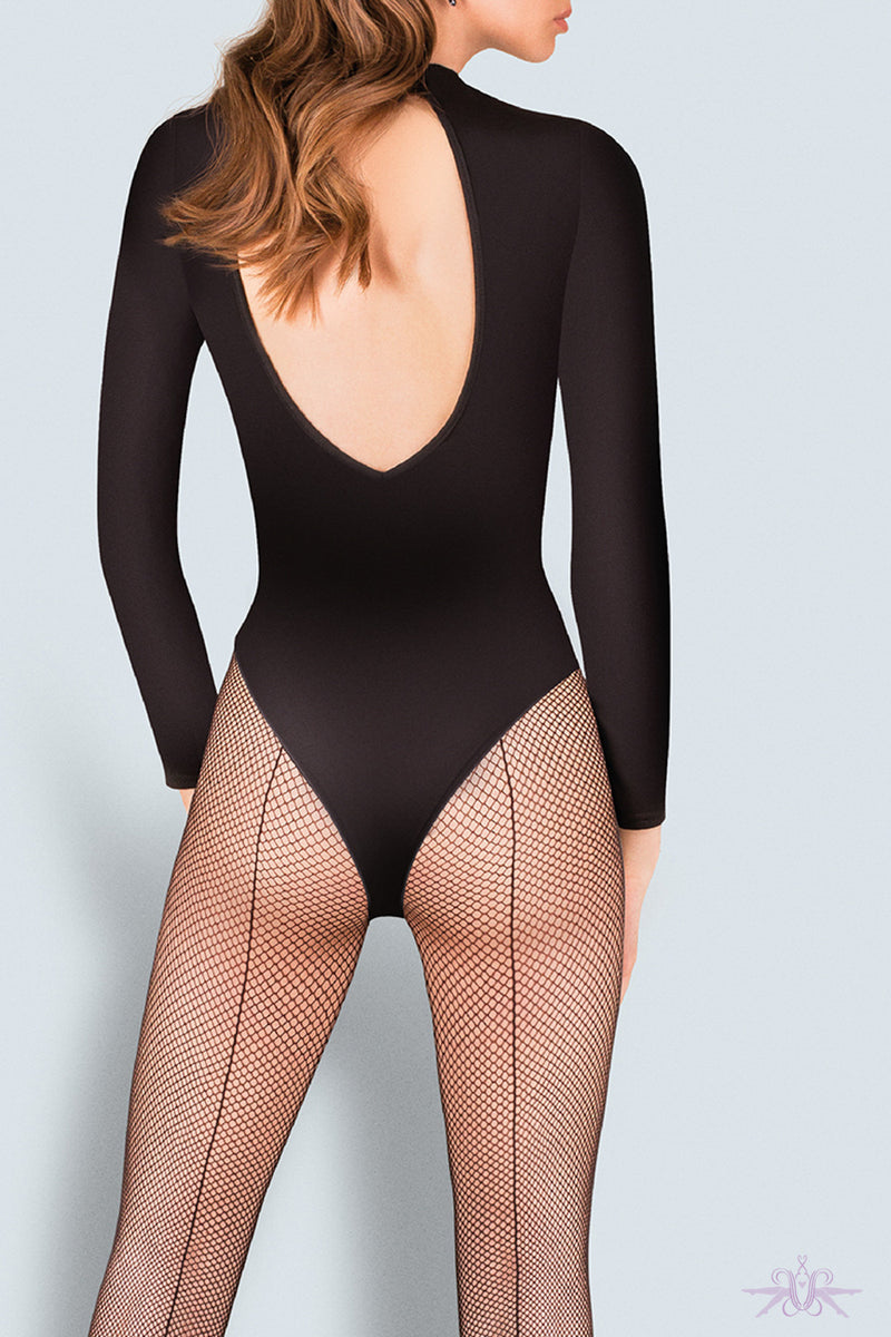 Gabriella Fishnet Seamed Tights