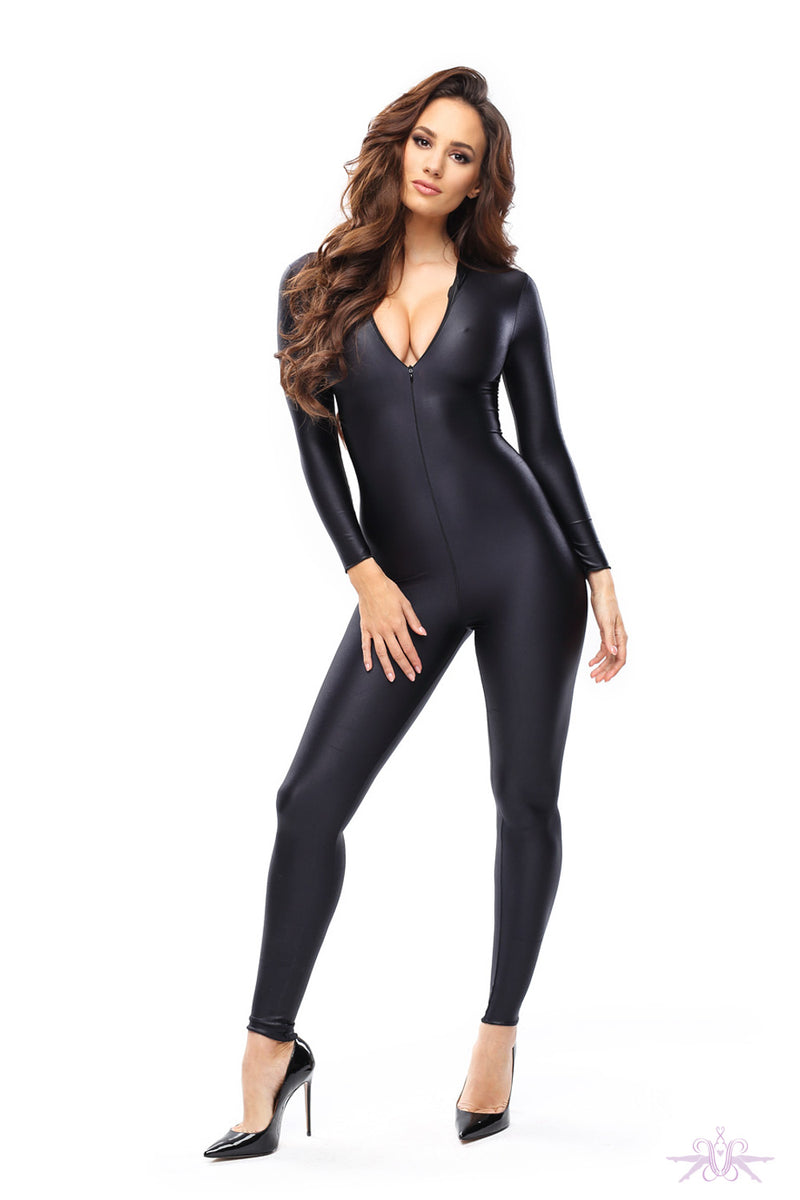 MissO Gloss Black Catsuit