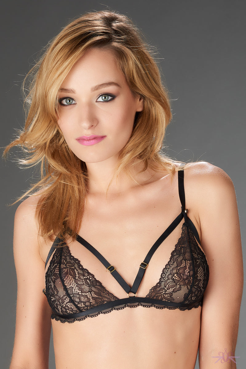 Maison Close Le Petit Secret Dentelle Openable Triangle Bra - Mayfair Stockings