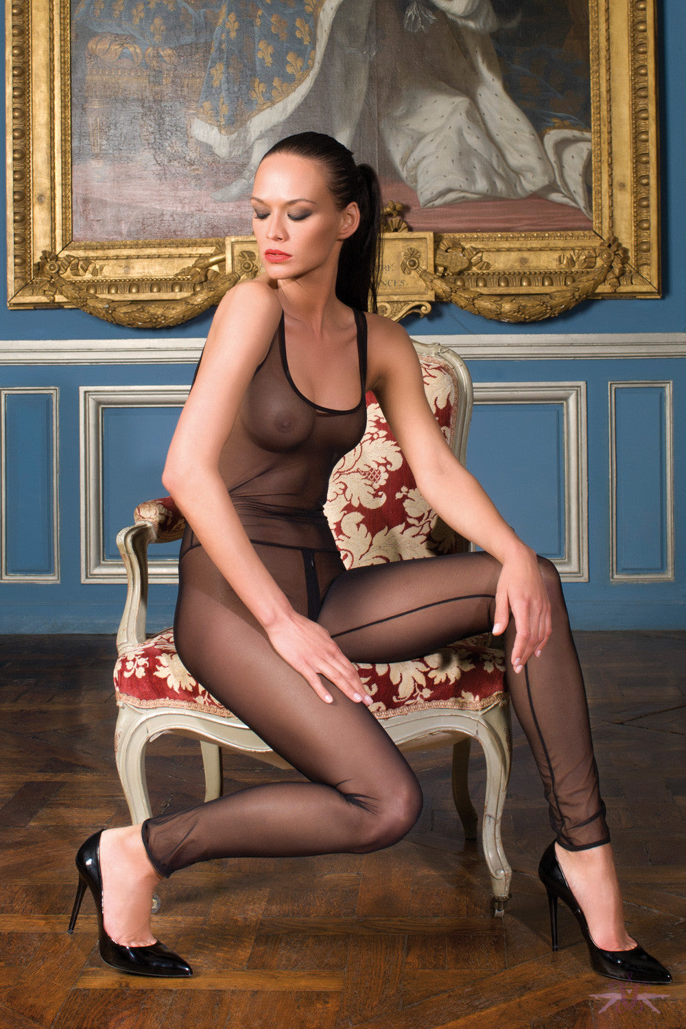 Maison close pure tentation catsuit mayfair stockings for Maison close