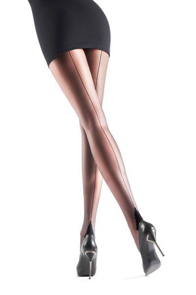 Oroblu Riga Seamed Tights - Mayfair Stockings