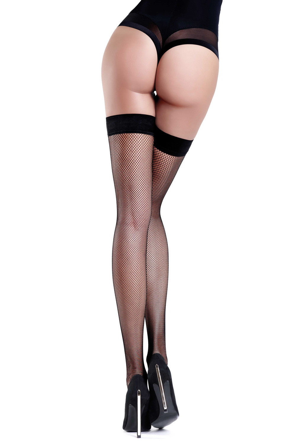 Oroblu Tricot Fishnet Hold Ups - Mayfair Stockings