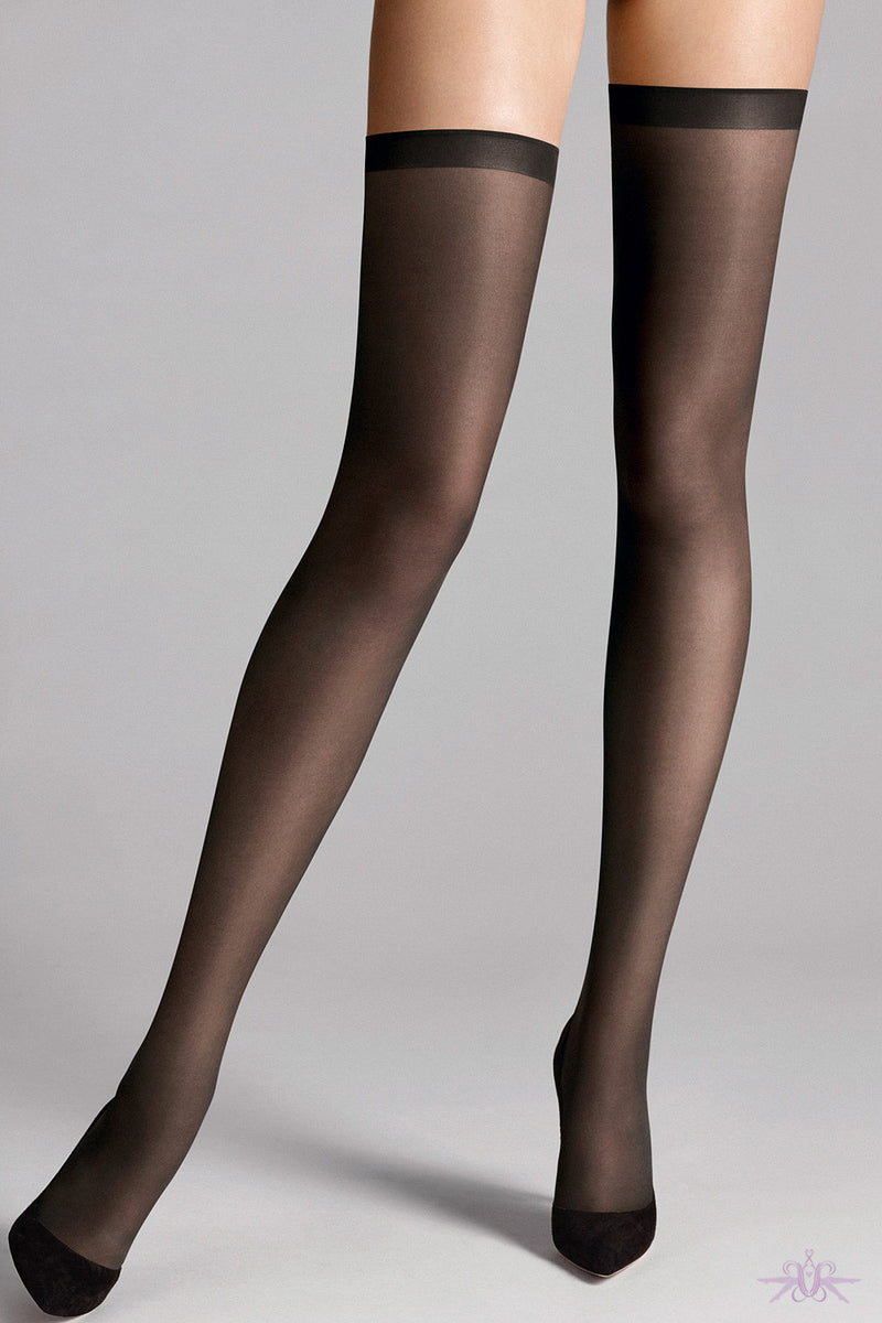 Wolford Fatal 15 Seamless Stay Ups - Mayfair Stockings
