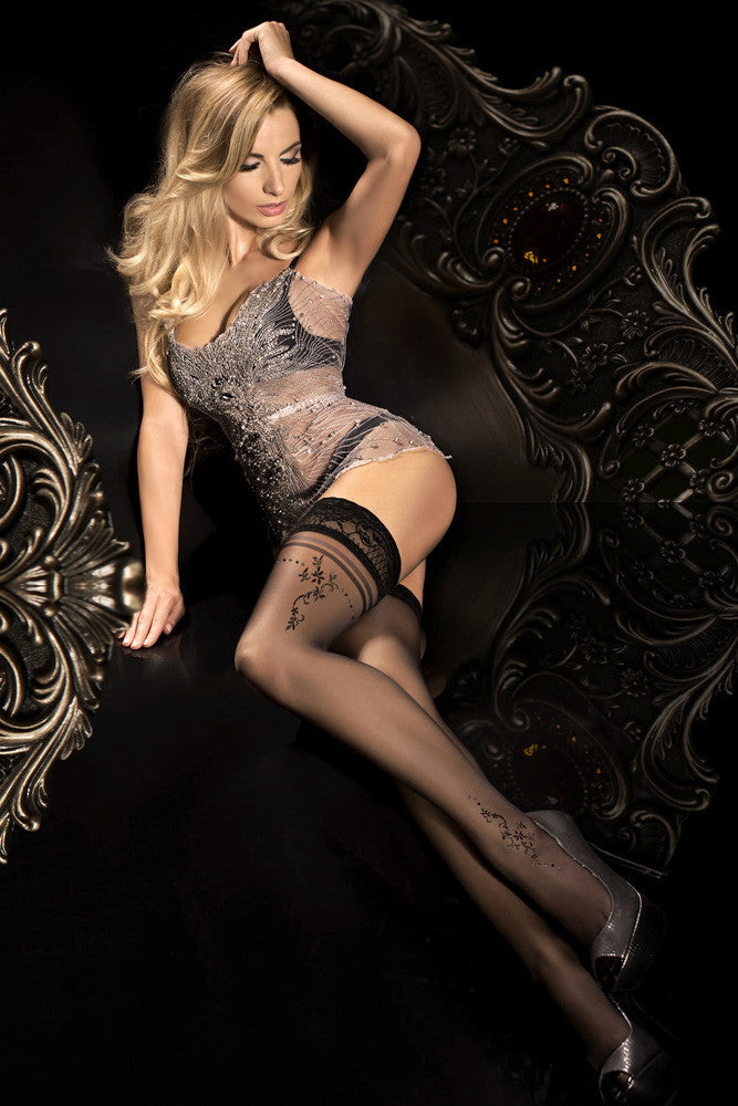 Ballerina Hush Hush Black Hold Ups - Mayfair Stockings - Ballerina - Hold Ups - 1