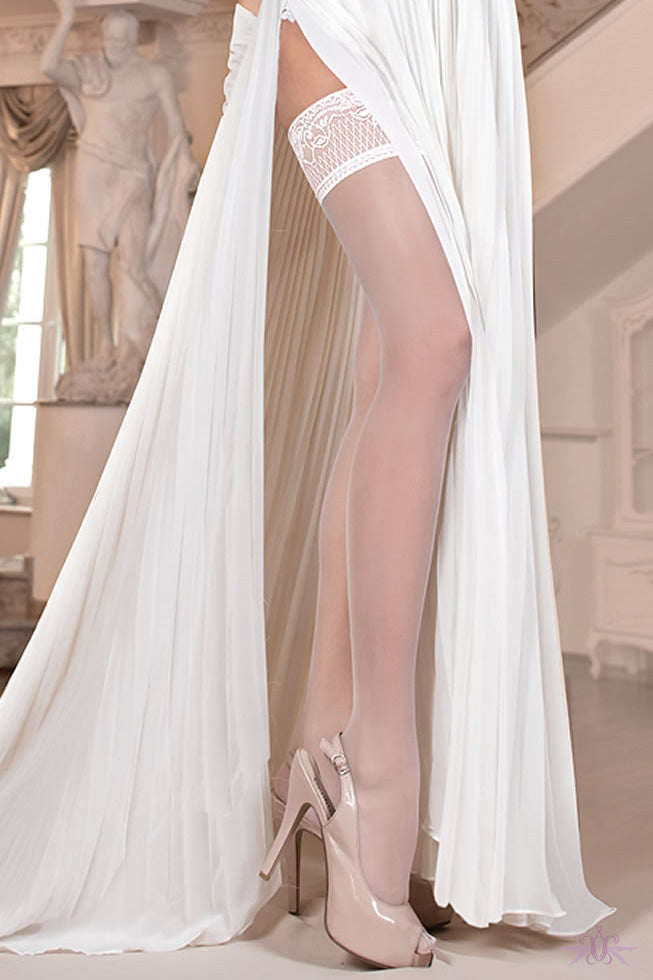Ballerina Hush Hush Bridal Hold Ups with Pheromones - Mayfair Stockings - Ballerina - Hold Ups - 2