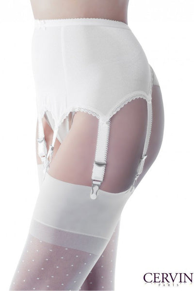 Cervin French Rivoli 6 Strap Suspender Belt - Mayfair Stockings