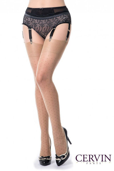 Cervin Capri Plumetis 15 Stockings - Mayfair Stockings