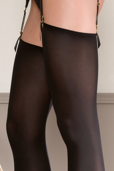 Maison Close Opaque Cut and Curled Stockings - Mayfair Stockings