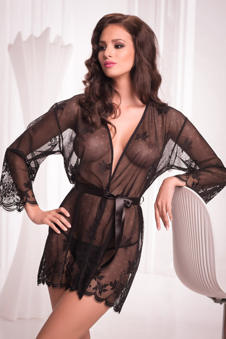 Diamond Dressing Gown - Mayfair Stockings - Mayfair - Lingerie - 1