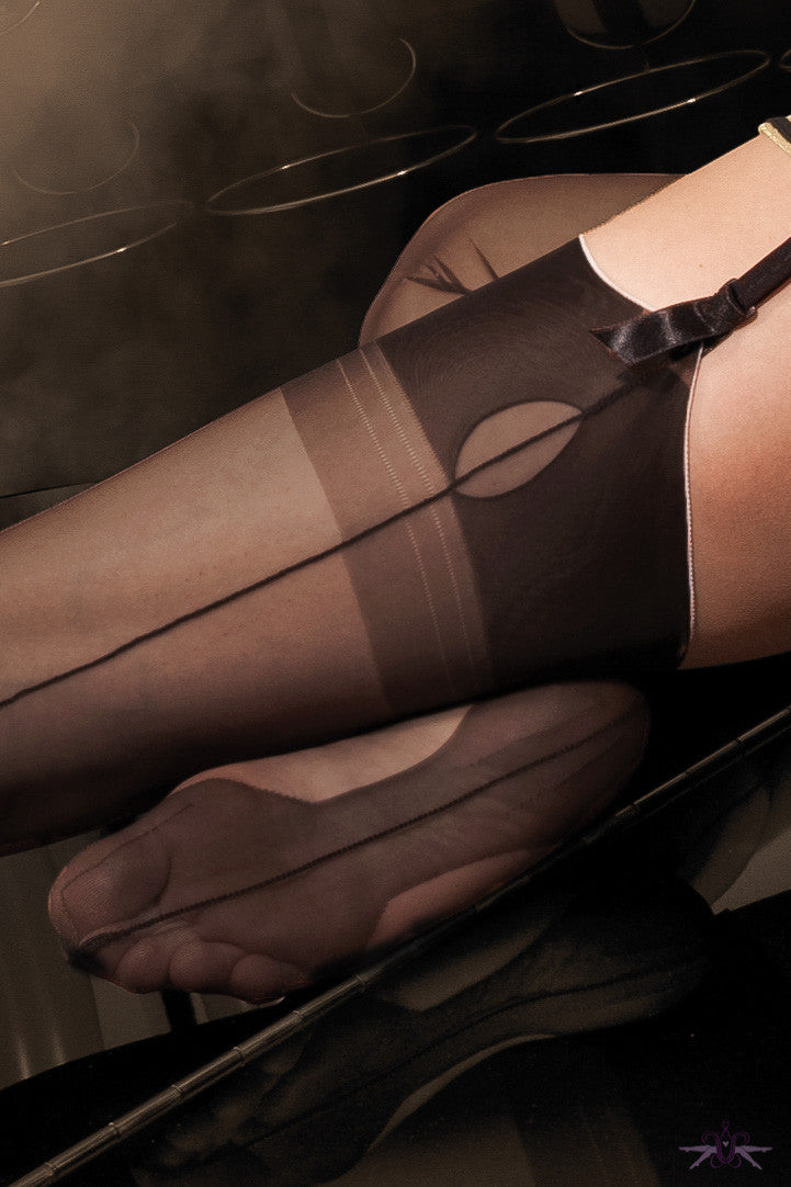 Cervin Havana Cuban Heel Fully Fashioned Stockings - Mayfair Stockings