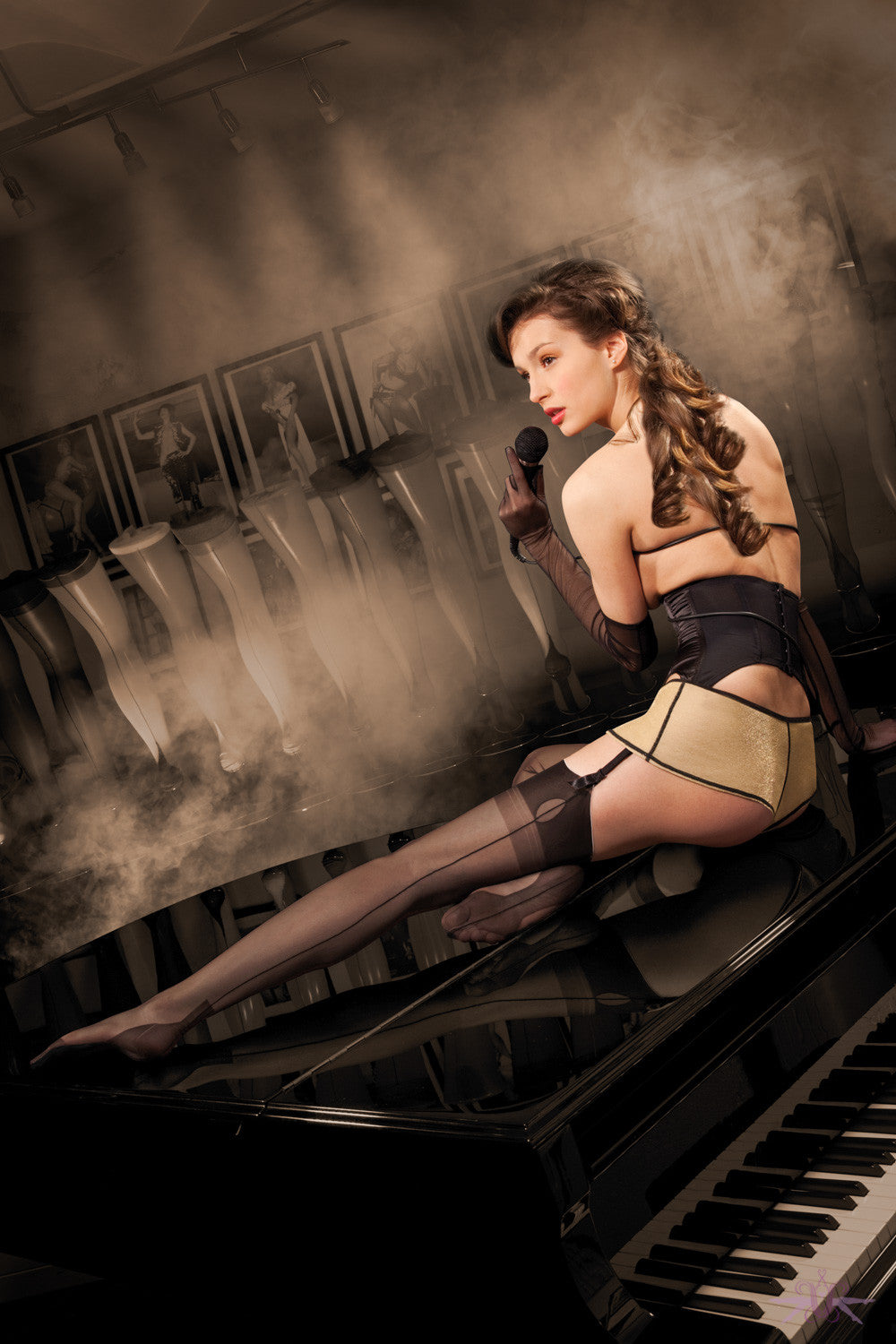 Cervin Havana Cuban Heel Fully Fashioned Stockings